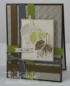 SU! French Foliage and Itty Bitty Banners stamp sets in Early Espresso, Sahara Sand, Soft Suede, Basic Gray, Lucky Limeade and Very Vanilla - Wendy Wexler
