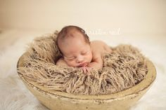 Curly Tan Brown Faux Fur Fabric Nest Blanket Basket Stuffer Newborn Baby Boy Girl Neutral Brown Photography Photo Prop - Ready to Ship. $20.00, via Etsy.
