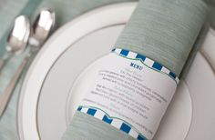 For low-key weddings - print your menu as a napkin ring holder!