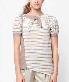 Take a look at this Brown & Gray Natalie Top by Dear Creatures on #zulily today!