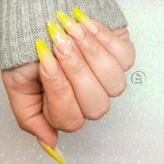 Acrylic nails by Serena @ The Nail Vault www.instagram.com/thenailvaultnz | long extensions almond neon ombre fade french baby boomer fluro fluoro yellow louis vutton lv supreme uv gel polish nude beige light pink cosy winter grey gray knit jumper cardigan streetwear Opi Gel Nail Colors, Opi Gel Nails, Almond Acrylic Nails, Almond Nails, Great Nails, Fabulous Nails, Aquarium Nails, Long Extensions, The Glow Up