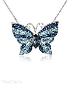 colar de borboleta