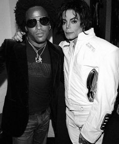 Lenny Kravitz with Michael Jackson