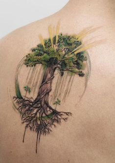 Gorgeous and Meaningful Tree Tattoos Inspired by Nature s Path awesome tree of life tattoo tattoo artist Deborah Genchi awesome tree of life tattoo tattoo artist Deborah Genchi Maple Tree Tattoos, Willow Tree Tattoos, Forearm Tattoos, Body Art Tattoos, Sleeve Tattoos, Bird Tattoos, Tatoos, Yggdrasil Tattoo, Natur Tattoos