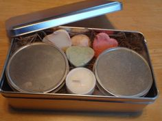 Gift Tin of Tarts Tealight and Coffee and Sandalwood Woodwick by CherryOakCandles