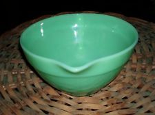 Fire King Jadeite Jadite Glass Colonial Style Batter and Mixing Bowl