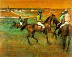 Chevaux de course (E. Degas, 1885-1888)