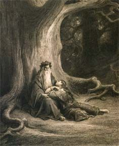 Arthurian Biographies: Merlin (and on one illustrates them like Dore)