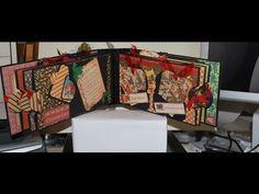 Graphic45 Christmas Emporium Mini Scrapbook Album - YouTube
