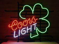 Coors Light Shamrock Leaf Classic Neon Light Sign 17 x 14