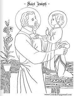 Beautiful Saint Joseph and Child Jesus coloring page... - http://designkids.info/beautiful-saint-joseph-and-child-jesus-coloring-page.html Beautiful Saint Joseph and Child Jesus coloring page #designkids #coloringpages #kidsdesign #kids #design #coloring #page #room #kidsroom