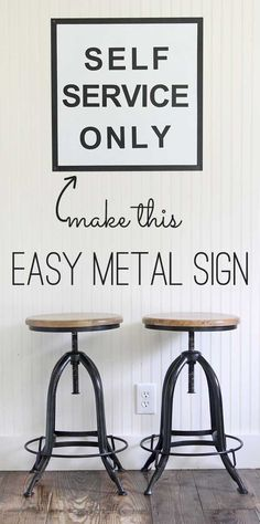 vintage inspired metal sign tutorial