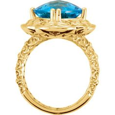 Blue Topaz and Gold Ring