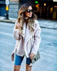 Another shearling jacket that I'm loving lately. 💕