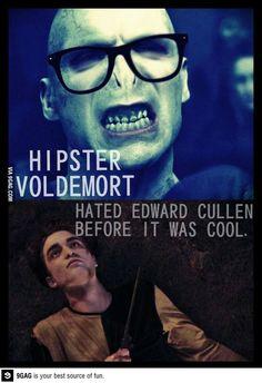 Hipster Voldemort.