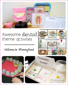 Dental theme activities and printables round up by Welcome to Mommyhood