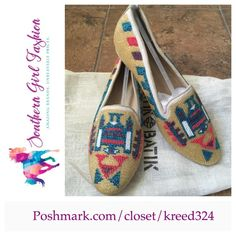 ANTHROPOLOGIE Flats ANTIK BATIK Beaded Loafer Shoe Size 6.  New with Shoe Bag and Tags.  $328 Retail + Tax.   Gorgeous southwestern style beaded loafers.  Leather, seed bead upper. Leather insole, sole. By Antik Batik for Anthropologie.  Comfortable and true to size.    ❗️ Please - no trades, PP, holds, or Modeling.    Bundle 2+ items for a 20% discount!    Stop by my closet for even more items from this brand!  ✔️ Items are priced to sell, however reasonable offers will be considered when…