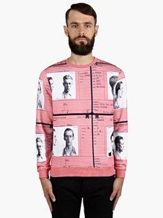 Carven Men's Mugshot Print Cotton Sweatshirt | oki-ni