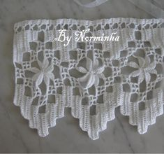pretty crochet edging with photo instructions