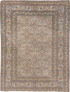 Persian rugs: Persian rug (antique) rug in beige color, oriental rug, oriental pattern for modern, elegant interior decor, rug in living room Teal Carpet, Patterned Carpet, Rugs On Carpet, Black Carpet, Tabriz Rug, Rug Store, Custom Rugs, Buy Rugs, Home Rugs