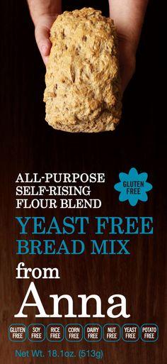 Breads From Anna Gluten Free Yeast Free Bread Mix