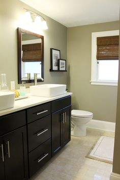 Beautiful Bathroom Redo. Small bathroom, but great double sink