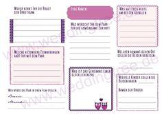 Hochzeitsgästebuch - Gästebuch mit Fragen an die Gäste (PDF) - ein Designerstück von Be-nice-4-you bei DaWanda