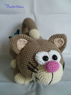 How cute is this ... I love him!!! Anne's Crochet Palace: Cats
