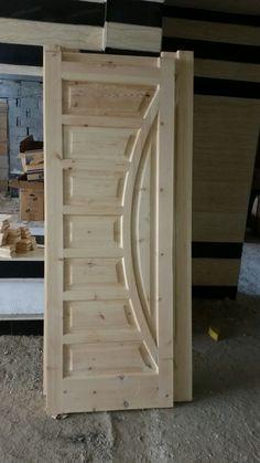 باب من الخشب السويدي Pooja Room Door Design, Bedroom Door Design, Door Design Interior, Single Door Design, Wooden Front Door Design, Modern Wooden Doors, Wood Entry Doors, House, Furniture
