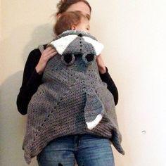 Crochet Baby Wearing Blanket by burchlings on Etsy
