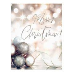 Merry Christmas Ornaments Letterhead - merry christmas diy xmas present gift idea family holidays