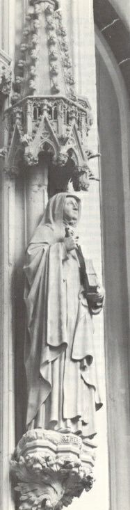 Teresa van Avila. -1891. Beeldhouwwerk door H. van der Geld Nederland, Den Bosch, St-Janskathedraal.