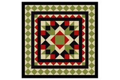 Learn how to use plain and patchwork borders to create a unique medallion quilt from the Arrow Crown quilt block.