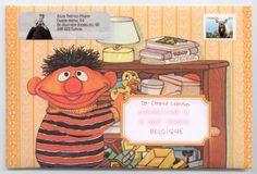Ernie on an envelope! Mail Art #mailart #snailmail #happymail