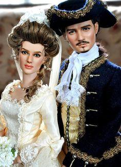 Elizabeth Swan and Will Turner Dolls