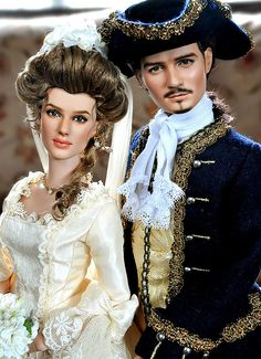 Elizabeth Swan and Will Turner Dolls