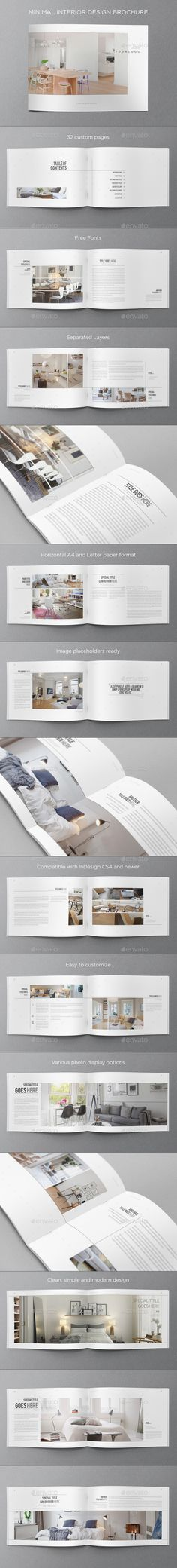 Minimal Interior Design Brochure. Download here: graphicriver.net/... #design #brochure