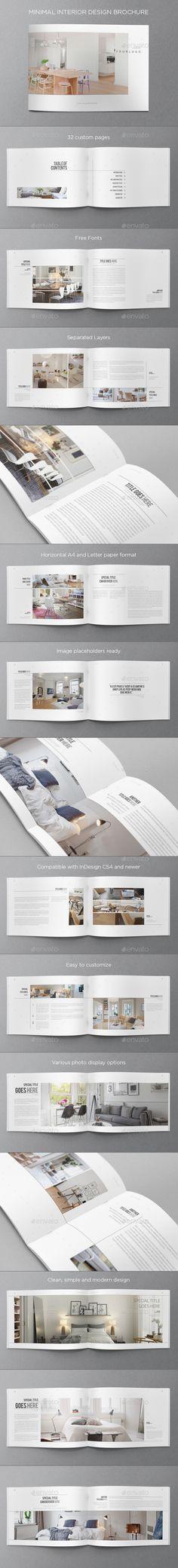最小限のインテリアデザインパンフレット - パンフレット印刷テンプレート