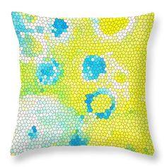 """Flowers V Throw Pillow 14"""" x 14""""  #throwpillow #homedecor"""
