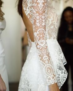 """1,903 Likes, 28 Comments - Designer For Wild Babes (@rimearodaky) on Instagram: """"Magical lace close up of our S A N S A dress,  by @gregfinck #rimearodaky #bridaldress…"""""""