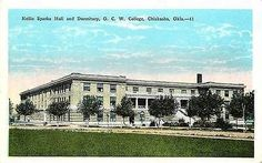 1920 Chickasha Oklahoma Womens College Nellie Sparks Hall Dorm Vintage Postcard