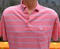 vintage 70s golf shirt polo PENGUIN pink stripe by skippyhaha, $22.00