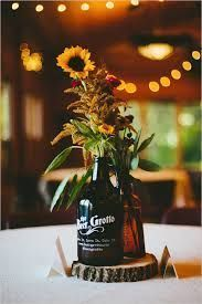 do it yourself wedding centerpieces with growlers