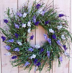 Spring Wreath-Spring Front Door Wreath-Lavender Wreath-Spring Home Decor-Floral Wreath-Summer Wreath-LAVENDER FLOWERS Twig Door Wreath