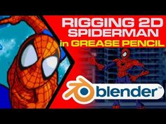 (8) Blender 2.8 - Rigging Spiderman in Grease Pencil (Complete step by step) - YouTube