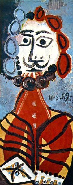 Pablo Picasso, 1969 Buste d'homme 1 on ArtStack #pablo-picasso #art