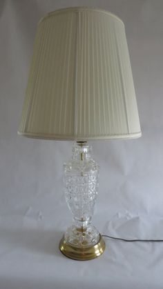 Rustic Crystal And Brass Table Lamp By Wattslampening On Etsy