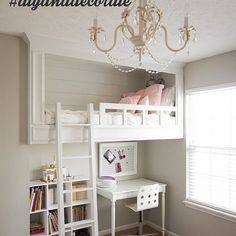 Our Girls Shared Bedroom and a Baby Nursery Reveal – – teenager zimmer mädchen - Hybrid Elektronike Cute Bedroom Ideas, Cute Room Decor, Girl Bedroom Designs, Room Ideas Bedroom, Bedroom Decor, Bed Ideas, Baby Bedroom, Bed Room, Girls Bedroom With Loft Bed