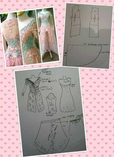 Modern Sewing Patterns, Clothing Patterns, Sewing Tutorials, Sewing Projects, Indonesian Kebaya, Kebaya Brokat, Model Kebaya, Sewing Blouses, Fashion Vocabulary