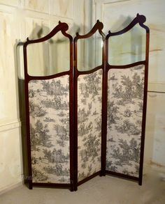 French Upholstered Dressing Screen - Antiques Atlas